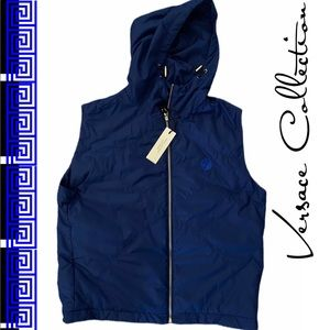 Versace Collection Royal Blue Hooded Vest